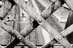 Railway worker (paul indigo) Tags: blackandwhite paul graphic tracks indigo railway worker grahamstown