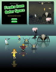 Freaks from Outer Space (Alex True) Tags: game space flash arcade attack aliens shooting monsters saving creatures humans freaks actionscript shenkar