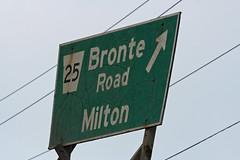 QEW Bronte Exit Sign