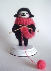 Knitting Black Sheep (feltmates!) Tags: wool felted knitting sheep handmade felt kawaii needlefelting blacksheep feltmates
