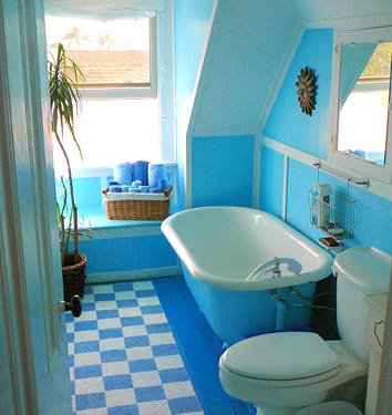 domino blue bathroom