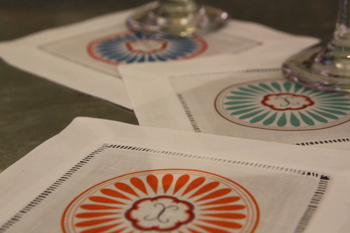 Indian Flower Wine cocktail napkins from Butterflyinc.com