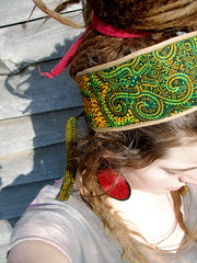 African Wax Print Patchwork Headband (arliaflower) Tags: dreadlocks belt recycled african indian fabric hippie material scraps patchwork boho dreads gypsy headband batik waxprint upcycled arliaflower