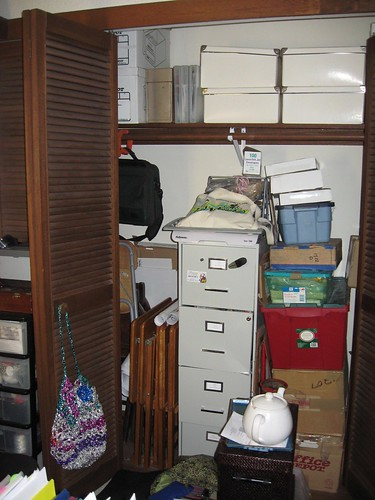 File Cabinet & Closet Project: Before