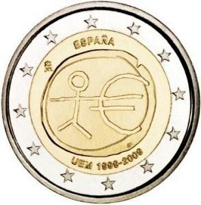 2 euro Španielsko 2009, 10. výročie HMÚ