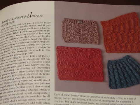 Designing Knitwear: swatch page