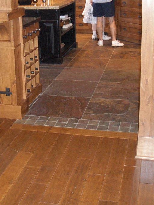 Transition from tile to wood flooring