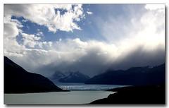 Perito Moreno Glacier (3dphoto.net) Tags: blue sky mountains ice water argentina clouds nationalpark andes bigsky sunrays losglaciares peritomorenoglacier lagoargentina
