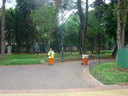 Limpeza da Praça da República