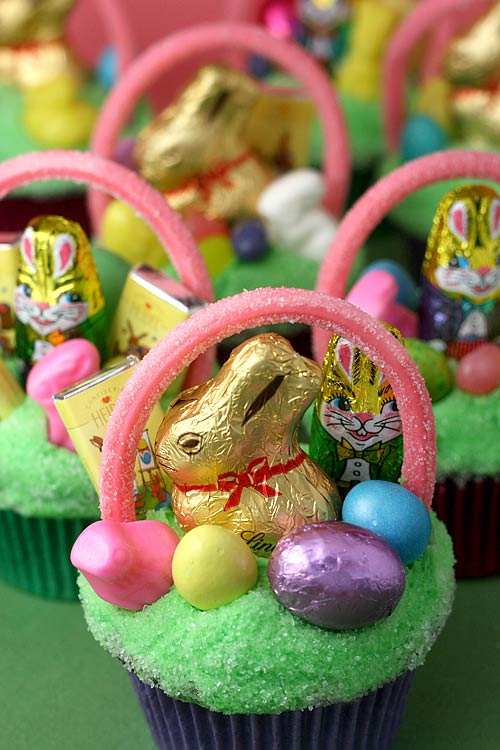 Easter basket cupcakes bakerella easter basket cupcakes negle Image collections