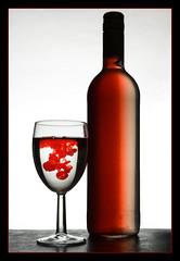 En flaska vin