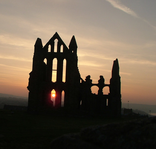 Setting Sun at Whitby Abbey