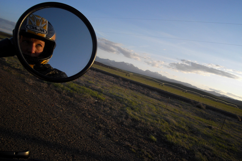 self portrait in eastern Oregon