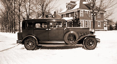 New Car, a 1931 Hudson 8! (newmexico51) Tags: old winter house snow car 1931 found thirties 1930s automobile photos photographs 20thcentury hudson8 hufson