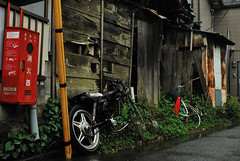 _13 (nakimusi) Tags: house rain japan tokyo alley ruins downtown may nostalgia rainy    showa    childrensday      toshima    zoushigaya