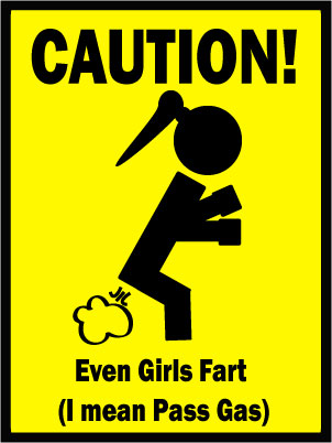 Farting Caution Sign