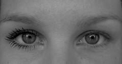 Clockwork Orange (RachelC.) Tags: portrait blackandwhite white black macro eye clockworkorange mascara