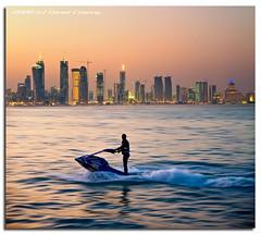 Doha - The Jet Ski Hour (DanielKHC) Tags: sunset ski skyline digital interestingness high nikon cityscape gulf dynamic dusk jet explore range dri hdr gcc doha qatar blending d300 dynamicrangeincrease tamron1750mmf28 danielcheong danielkhc amazingqatar gettyimagesmeandafrica1