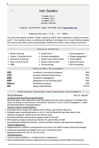 administration cv format - Ecza.solinf.co
