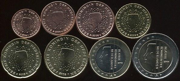 Sada mincí 1 cent - 2 euro Holandsko 2008