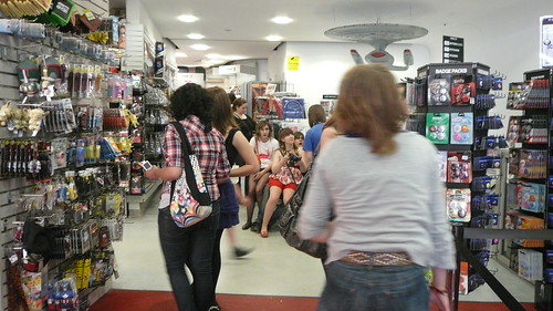 Forbidden Planet overrun with teen girls II