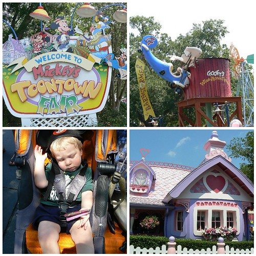 Some views of Mickey's Toontown Fair area