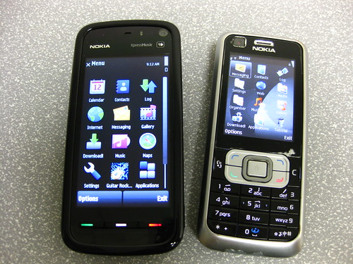 Nokia 5800 XpressMusic and 6120 Classic