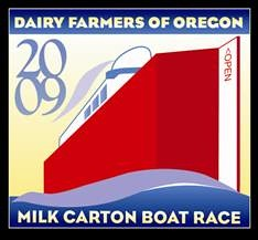 Rose Festival Milk Carton Boat Race Logo