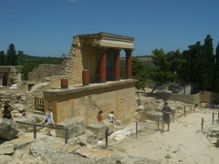 famous reconstructed site at knossos