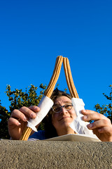 Churro Eiffel Tower (dogwelder) Tags: california sky food june disneyland anaheim zurbulon6 2009 churros cristin zurbulon federalland
