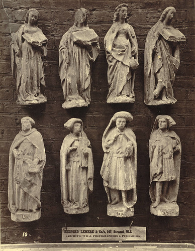 Royal Architectural Museum. Plaster Casts (Figures) from the West Porch of Chartres Cathedral by Cornell University Library
