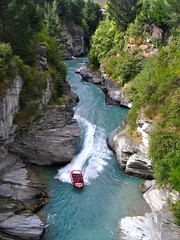 Shotover Jet, Jet Boating the Shotover River Canyons, Queenstown, New Zealand (Alex E. Proimos) Tags: new blue red green water price speed canon river boat yahoo big google dangerous rocks waves ride awesome breath jet cost twist explore zealand planet boating queenstown lonely taking excitement narrow canyons shotover otw abigfave theloveshack flickraward diamondcl