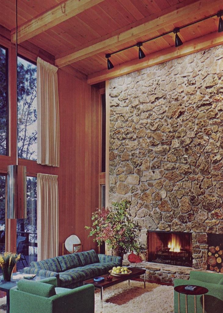 Soaring Stone Fireplace