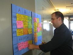 Reg setting up the schedule