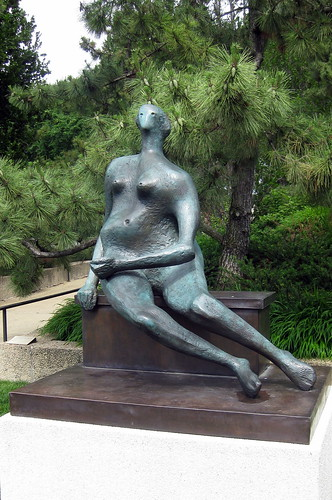 Washington DC - Hirshorn Museum and Sculpture Garden - Seated Woman by Henry Moore