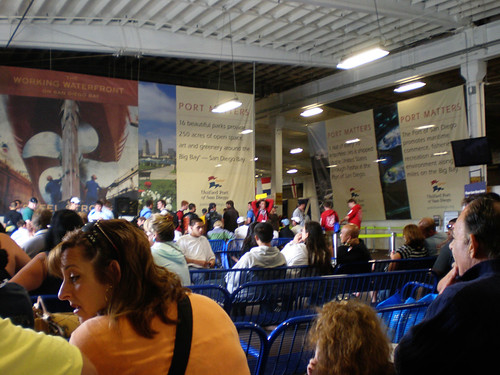 Inside the Cruise Ship Terminal