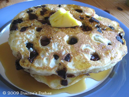 Blueberry Milk Chocolate Chunk Pancakes: Ready to Eat