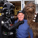 George Lang palling around with Darth & Chewie