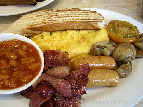 BIG Breakfast (scrambled eggs) RM27 incl juice and coffee