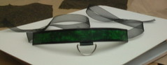 Malachite choker with D-ring