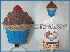 .:. Porta Pano de Prato - Cupcake .:. (Bonecos de Pano .Com) Tags: cupcake feltro panodecopa portapanodeprato enfeitedecozinha