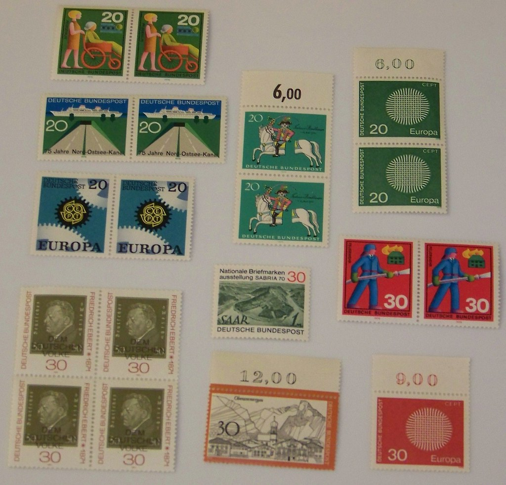Vintage Unused Foreign Stamps