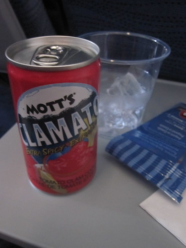 Clamato on the plane