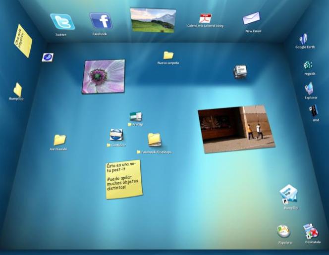 Escritorio 3D bumpTop para descargar / 3D Desktop BumpTop for download