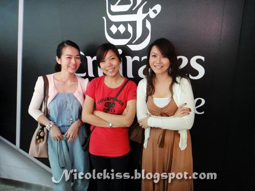 three flight attendants