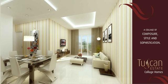 Tuscan Estate Kharadi Pune Hoarding Living & Dining