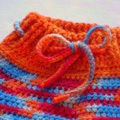 Crocheted BFL Wool Longies (med/lrg)