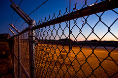 Night Visitors (-Passenger-) Tags: sunset arizona night fence airport wire sedona prisonbreak
