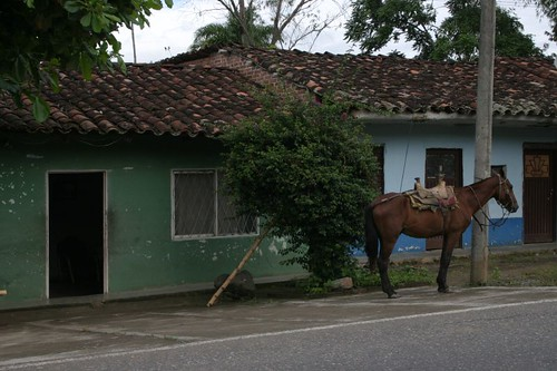 Private parking lot in a southern Colombian village...Near El Bordo.