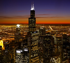 (Kevin Dickert) Tags: city nightphotography sunset sky urban chicago building skyline architecture night skyscraper buildings grid downtown cityscape skyscrapers loop dusk searstower fromabove highrise canon5d bluehour lookingdown hdr highdynamicrange downtownchicago nightfall chasetower density worldwidepanorama citygrid 311southwacker blueperiod urbanchicago abovestreetlevel threefirstnationalplaza willistower nightgrid iamhydrogen kevindickert